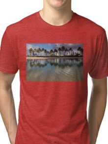 Palm Trees, Crystal Clear Lagoon Water and Tropical Fish Tri-blend T-Shirt