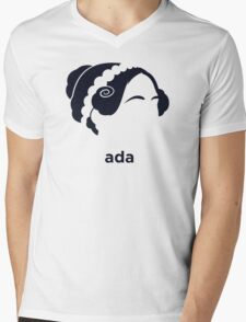 Ada Lovelace (Hirsute History) Mens V-Neck T-Shirt