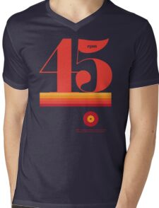 45rpm Mens V-Neck T-Shirt