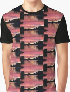 Fiery Sunset - Downtown Toronto Skyline with Sailboats Graphic T-Shirt