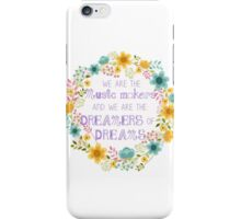 The Makers of Dreams iPhone Case/Skin