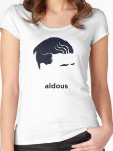 Aldous Huxley (Hirsute History) Women's Fitted Scoop T-Shirt