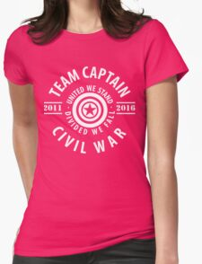 TEAM CAPTAIN - FIRST MOVIE TO CIVIL WAR Womens Fitted T-Shirt