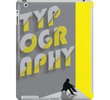 Typography iPad Case/Skin