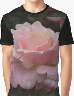 Rose and Rain in Pink Graphic T-Shirt