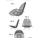 Eames DKR Iconic Mid Century Modern Chair Patent Drawing Design by Framerkat