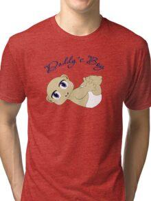 Daddy's Boy Bald and Blue Eyes Tri-blend T-Shirt