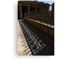 Shapes and Shadows - Antoni Gaudi, Park Guell, Barcelona, Catalonia, Spain Canvas Print