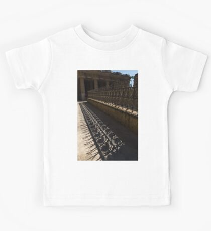 Shapes and Shadows - Antoni Gaudi, Park Guell, Barcelona, Catalonia, Spain Kids Tee