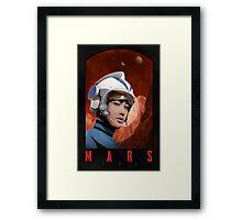 Mars One Retro Sci-Fi Astronaut Framed Print