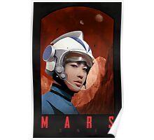 Mars One Retro Sci-Fi Astronaut Poster