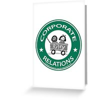 corporate relations  Greeting Card