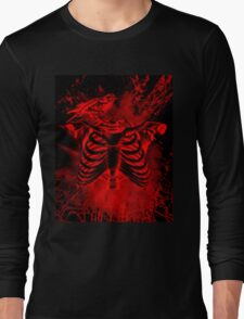 Free from inside-Black & red Long Sleeve T-Shirt