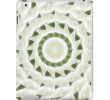 Green White Kaleidoscope Art 11 iPad Case/Skin