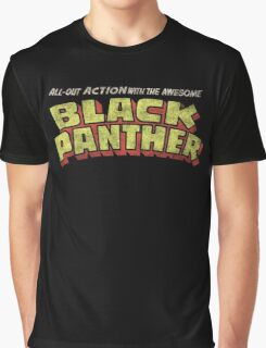 Black Panther - Classic Title - Dirty Graphic T-Shirt