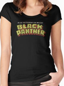 Black Panther - Classic Title - Dirty Women's Fitted Scoop T-Shirt
