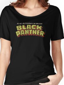 Black Panther - Classic Title - Dirty Women's Relaxed Fit T-Shirt