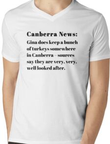 Gina's Canberra Turkeys Mens V-Neck T-Shirt