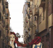 Breathing Barcelona Street Sticker