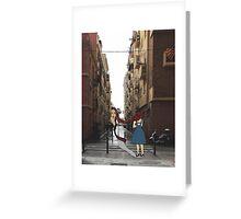 Breathing Barcelona Street Greeting Card