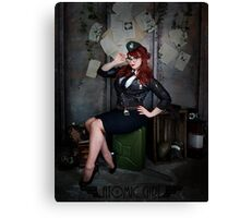 Atomic Girl Dieselpunk Pinup Canvas Print