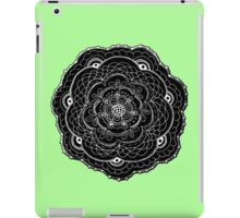 Black and White Abstract Lace Flower iPad Case/Skin