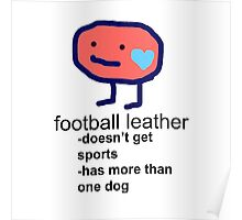 Football Leather Poster