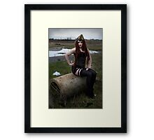 Sway In the Wasteland - Apocalyptic Dieselpunk Pinup Framed Print