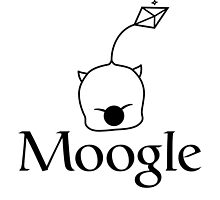 When in doubt, Moogle it! (black version) by Melanie St Clair