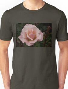 Rose and Rain - Soft Pink Raindrops Unisex T-Shirt