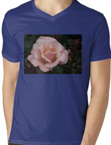 Rose and Rain - Soft Pink Raindrops Mens V-Neck T-Shirt