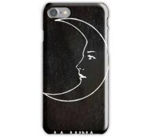 La Luna - Tarot in Black iPhone Case/Skin
