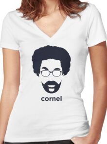 Cornel West (Hirsute History) Women's Fitted V-Neck T-Shirt