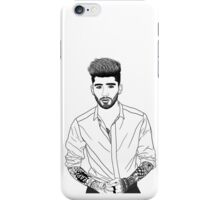 Zayn Malik Black and White Digital Line Art  iPhone Case/Skin