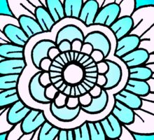 mandala: bright blue Sticker