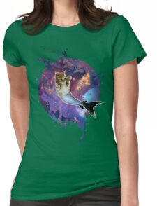 Space Purrmaid Womens Fitted T-Shirt