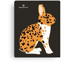 Black Spotted Japanese Rabbit Canvas Print