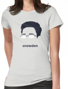 Edward Snowden (Hirsute History) Womens Fitted T-Shirt