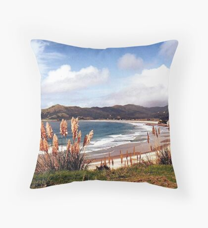 Medlands Beach, Great Barrier Island..........! Throw Pillow