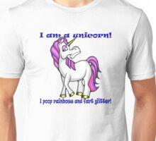 Stuck Up Unicorn Design (family friendly version) Unisex T-Shirt