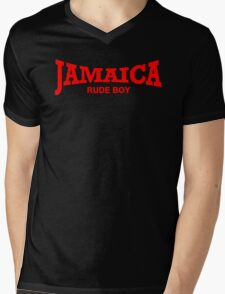 Jamaica Rude Boy Mens V-Neck T-Shirt