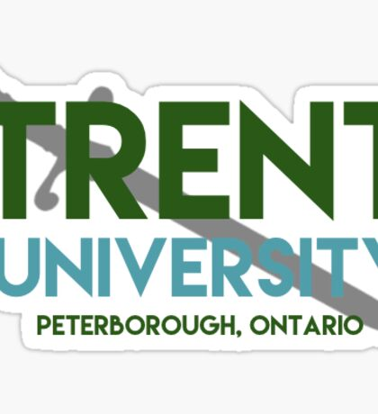 Trent university with excalibur  Sticker