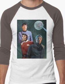 Three Spock Moon Men's Baseball ¾ T-Shirt