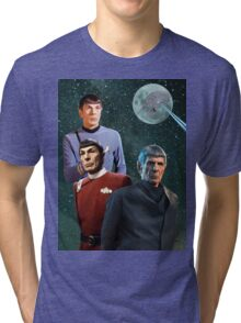 Three Spock Moon Tri-blend T-Shirt