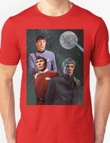 Three Spock Moon Unisex T-Shirt