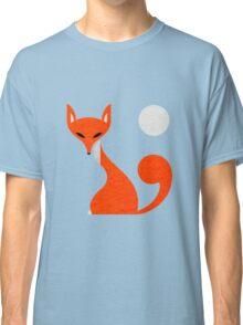 Fox and Moon Semicolon Version Classic T-Shirt