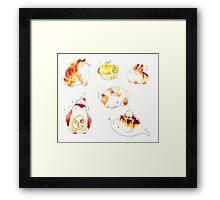 pastry animals. Framed Print