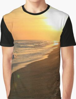 Golden Beach Sunset Graphic T-Shirt
