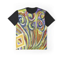 Le Peacock and Diamonds Graphic T-Shirt