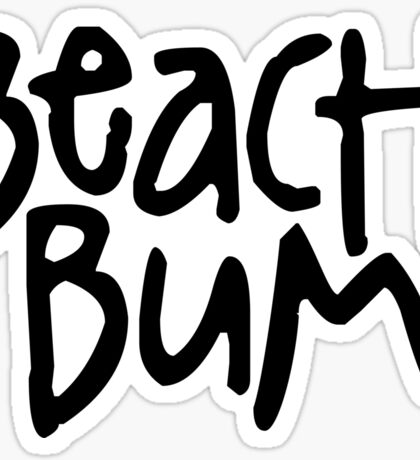 Beach Bum 3 Sticker